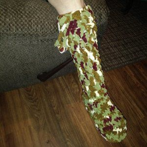 knee high crocheted boots